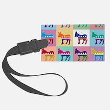 Pop Art Democrat Donkey Logo Luggage Tag