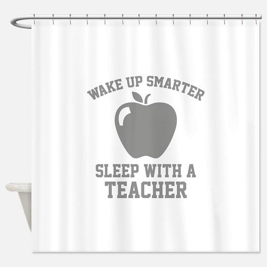 Wake Up Smarter Shower Curtain