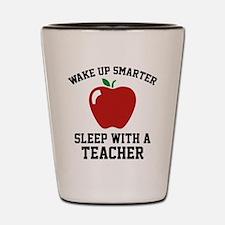 Wake Up Smarter Shot Glass