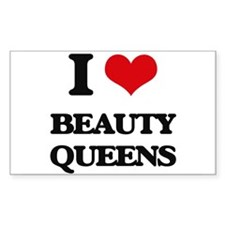 I Love Beauty Queens Decal