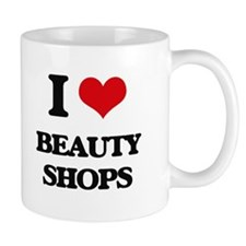 I Love Beauty Shops Mugs