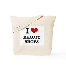 I Love Beauty Shops Tote Bag