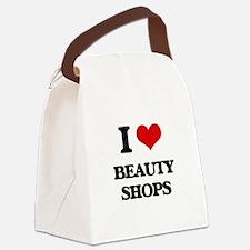 I Love Beauty Shops Canvas Lunch Bag