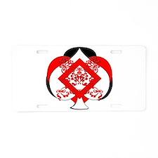 Club Diamond Spade Heart de Aluminum License Plate
