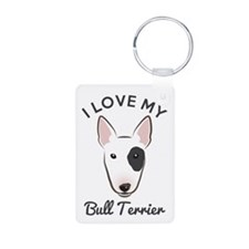 I Love My Bull Terrier Keychains