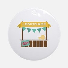 Lemonade Stand Ornament (Round)