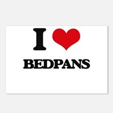 I Love Bedpans Postcards (Package of 8)