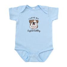 I Love My English Bulldog Infant Bodysuit