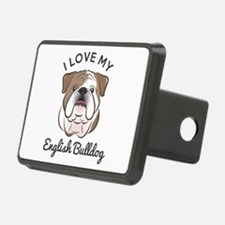 I Love My English Bulldog Hitch Cover