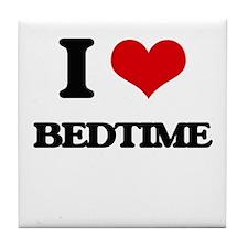I Love Bedtime Tile Coaster