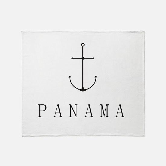 Panama Sailing Anchor Throw Blanket