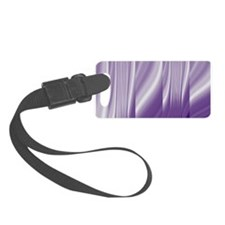 abstract purple grey Luggage Tag