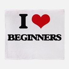 I Love Beginners Throw Blanket