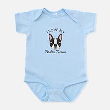 I Love My Boston Terrier Infant Bodysuit