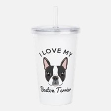 I Love My Boston Terri Acrylic Double-wall Tumbler