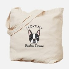 I Love My Boston Terrier Tote Bag