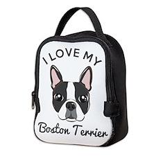 I Love My Boston Terrier Neoprene Lunch Bag