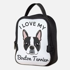 I Love My Boston Terrier Neoprene Lunch Bag