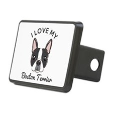 I Love My Boston Terrier Hitch Cover