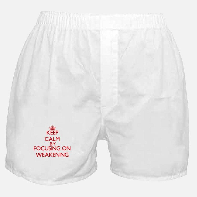 Keep Calm by focusing on Weakening Boxer Shorts