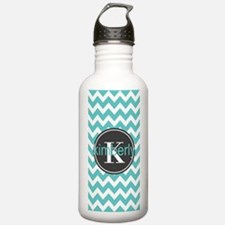 Gray and Turquoise Che Water Bottle