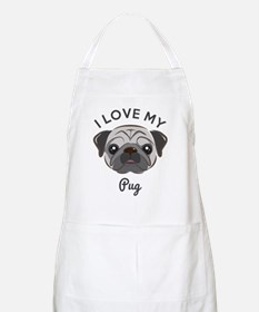 I Love My Pug Apron