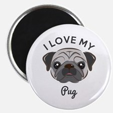"I Love My Pug 2.25"" Magnet (10 Pack) Magnets"