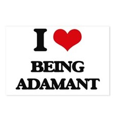 I Love Being Adamant Postcards (Package of 8)