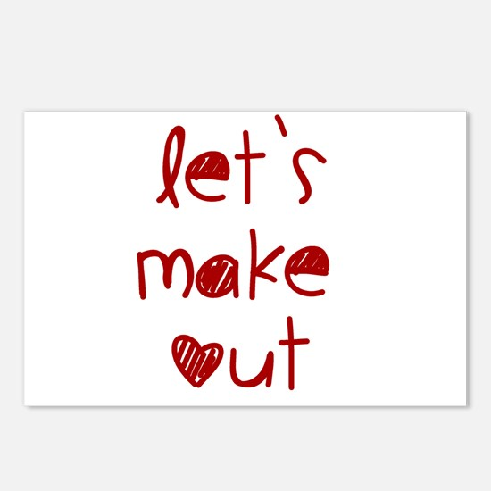 Let's Make Out Postcards (Package of 8)