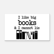 I like Big Books Rectangle Car Magnet