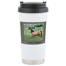 Old window horse 2 Travel Coffee Mug