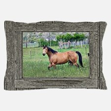 Old window horse 2 Pillow Case