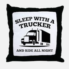 Sleep With A Trucker Throw Pillow