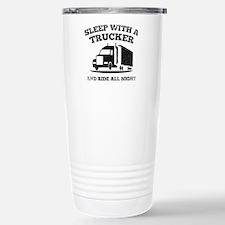 Sleep With A Trucker Ceramic Travel Mug