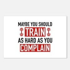 Train As Hard As You Complain Postcards (Package o