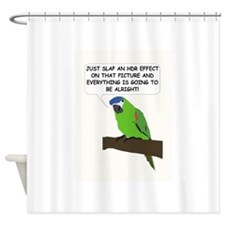 HDR Parrot Shower Curtain