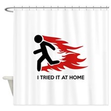 I Tried It At Home Shower Curtain