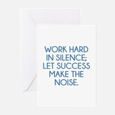 Let Succes Make The Noise Greeting Cards (Pk of 20