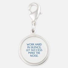 Let Succes Make The Noise Silver Round Charm
