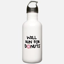 Will Run for Donuts Water Bottle