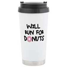 Will Run for Donuts Travel Mug