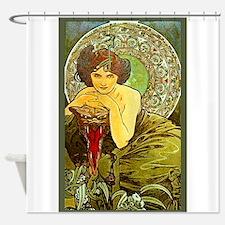 THE EMERALD, 1900.JPG Shower Curtain