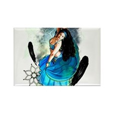 Cute Belly dance Rectangle Magnet (10 pack)