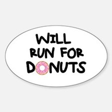Will Run for Donuts Decal