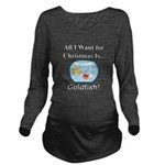 Christmas Goldfish Long Sleeve Maternity T-Shirt