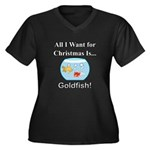 Christmas Go Women's Plus Size V-Neck Dark T-Shirt