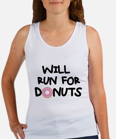 Will Run for Donuts Tank Top