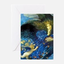 Angel with Putti Greeting Cards