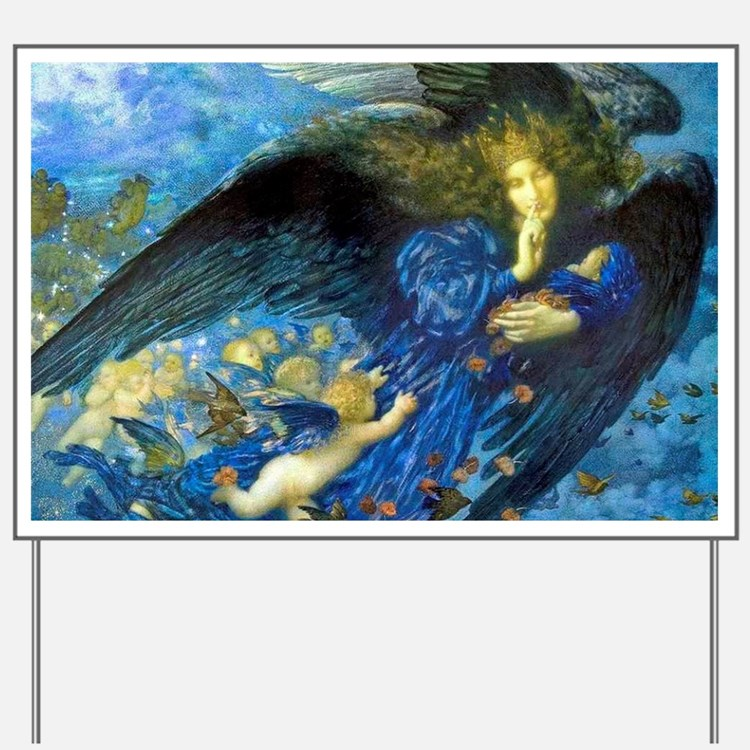 Angel with Putti Yard Sign
