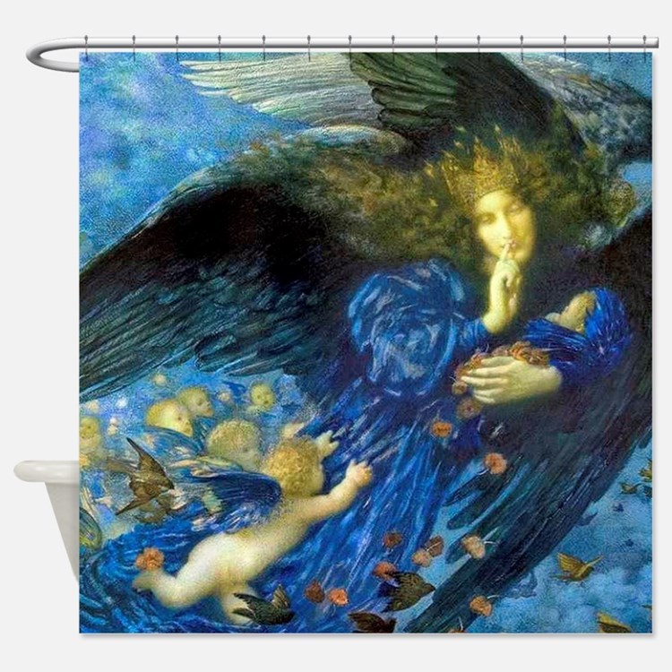 Angel With Putti Shower Curtain